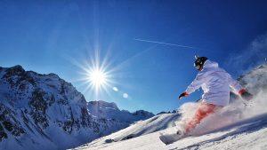 proteggere gli occhi sulla neve