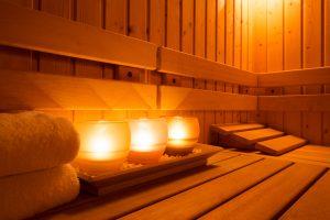 lenti a contatto in sauna